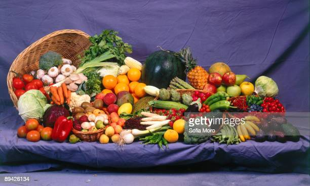 Fuits and vegetables still life
