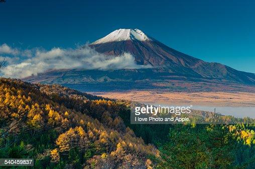 Fuji and Clear autumn sky