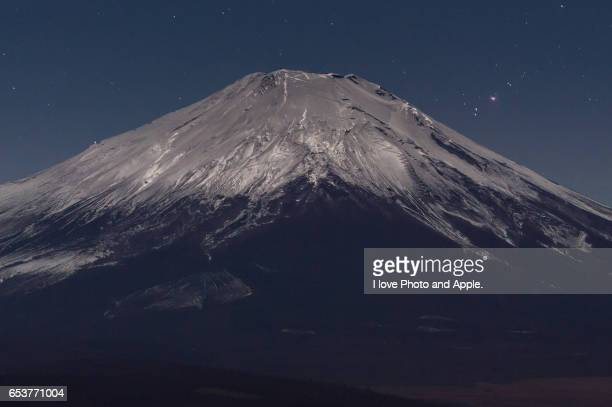 Fuji at moonlit night