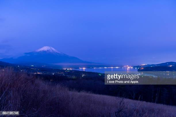 Fuji in the blue world