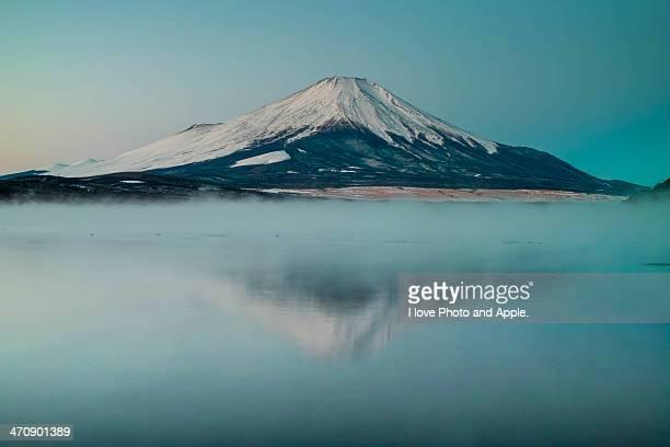 Fuji in the morning mist