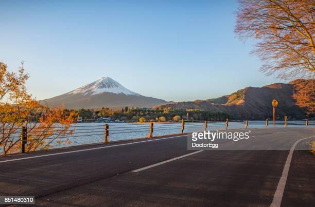 Fuji Mountain in Autumn at Kawaguchiko Lake
