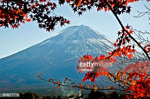 Fuji Mountain in Autumn. : Stock Photo