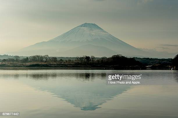 Fuji with spring haze