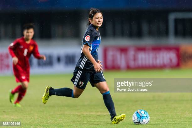 Fuka Nagano of Japan in action during their AFC U19 Women'u2019s Championship 2017 Group Stage B match between Japan and Vietnam at Jiangning Sports...