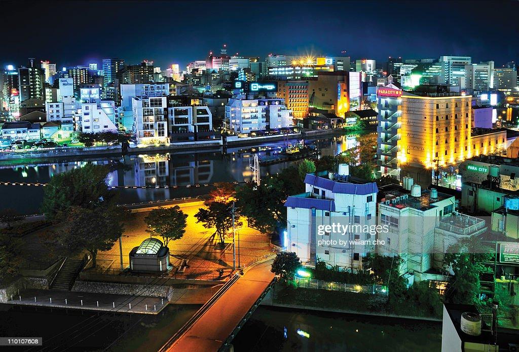 Fukuoka by Night, Japan