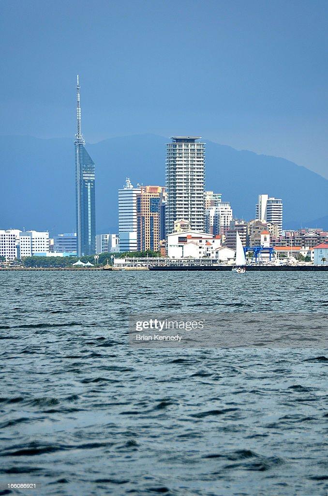 Fukuoka Cityscape from Harbor
