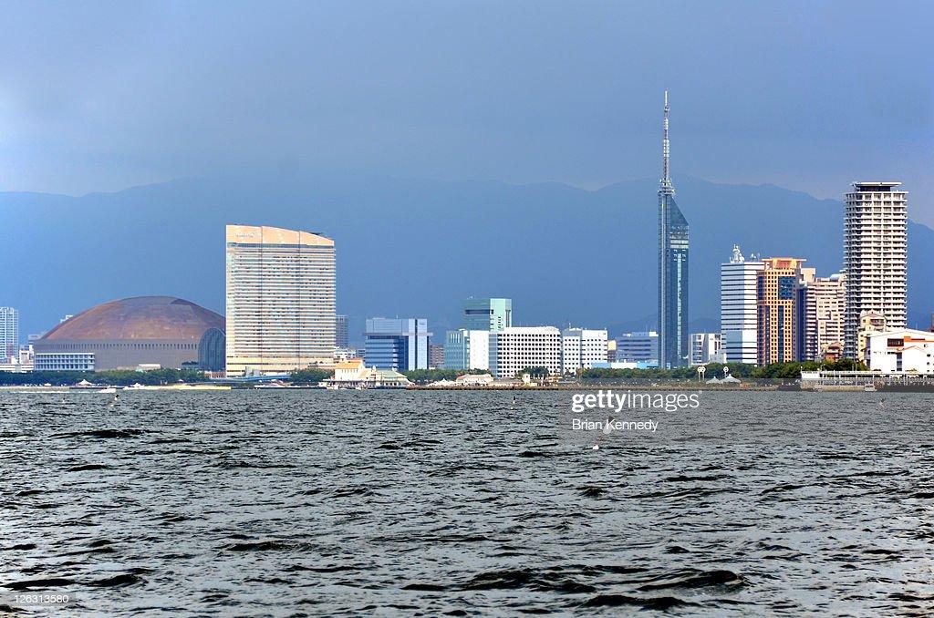 Fukuoka cityscape from harbour