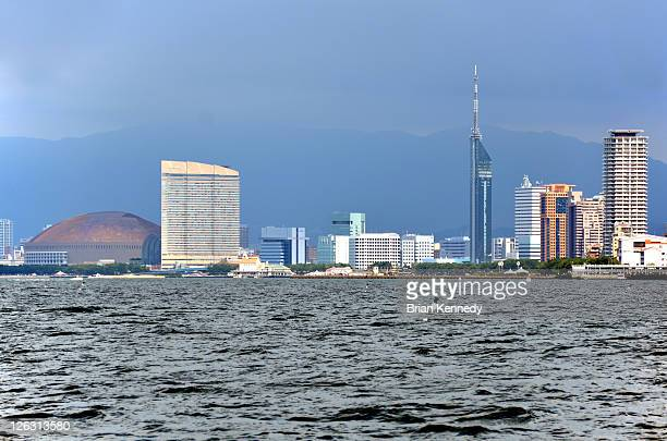 Fukuoka cityscape from harbour