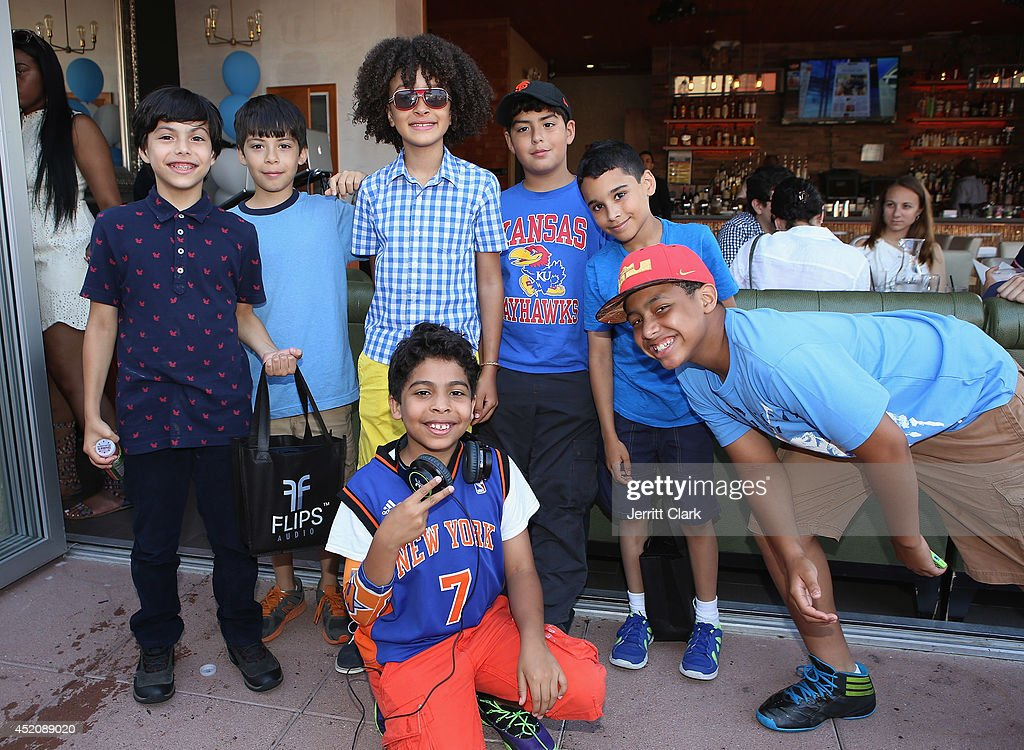 DJ Fulano parties with friends at his 11th birthday party at Rooftop 48 on July 12, 2014 in New York City.