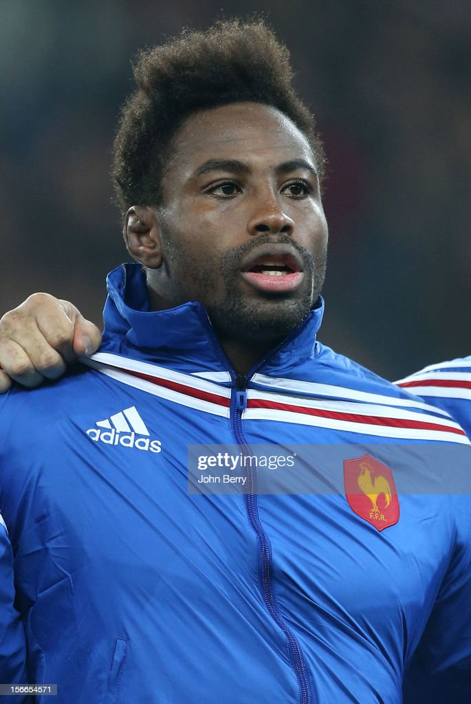 Fulgence Ouedraogo of France ahead of the rugby autumn international between France and Argentina at the Grand Stade Lille Metropole on November 17...