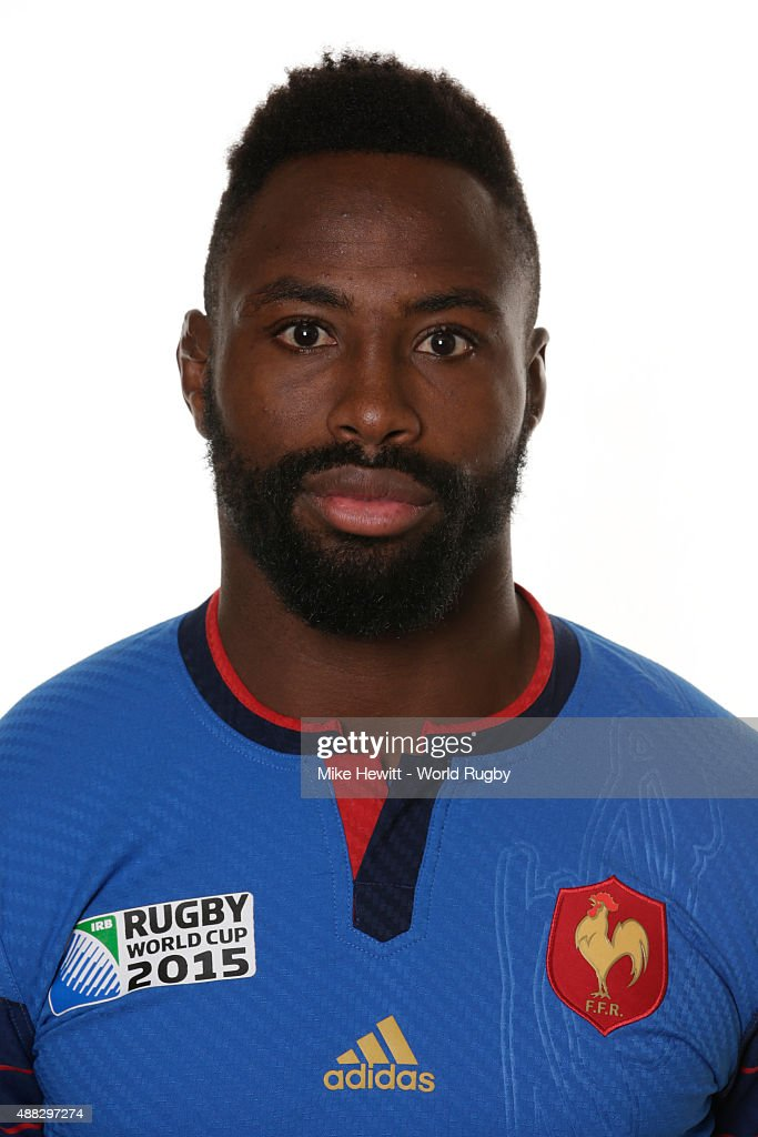 Fulgence Ouedraogo of France poses during the France Rugby World Cup 2015 squad photo call at the Selsdon Park Hotel on September 15, 2015 in Croydon, England.