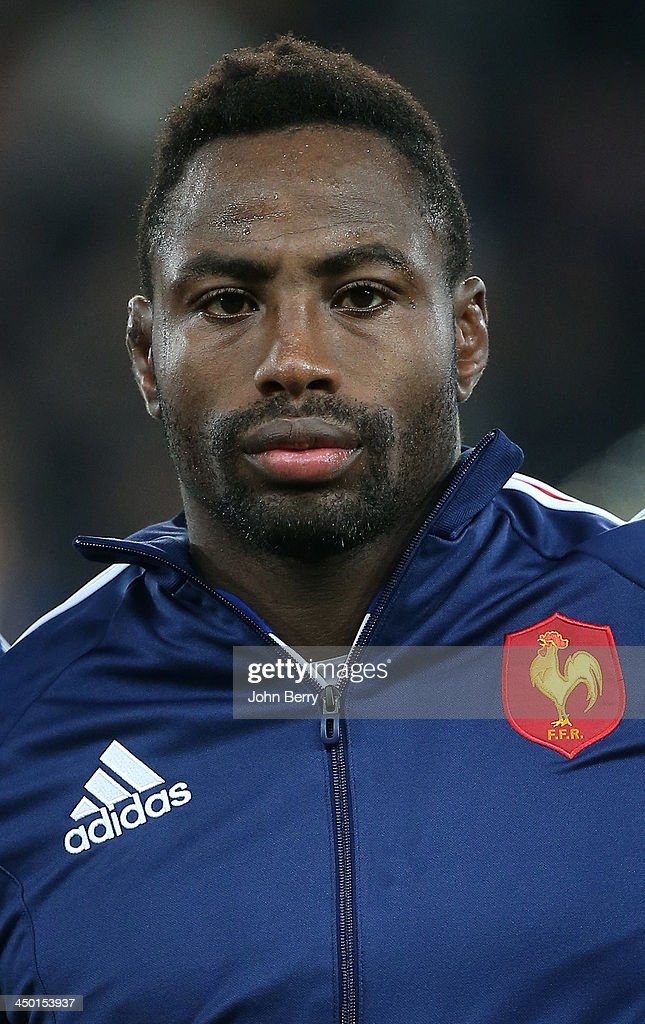 Fulgence Ouedraogo of France poses during the international match between France and Tonga at the Oceane Stadium on November 16 2013 in Le Havre...