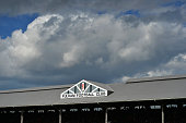 Fulham fans look on during the Sky Bet Championship match between Fulham and Middlesbrough at Craven Cottage on April 25 2015 in London England