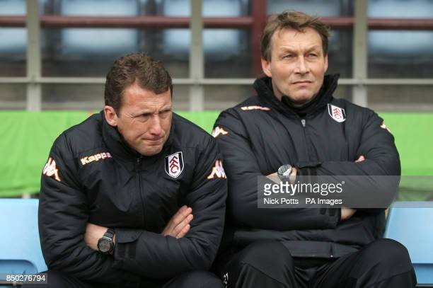 Fulham first team coach Billy McKinlay and club head coach Michael Lindeman before kickoff