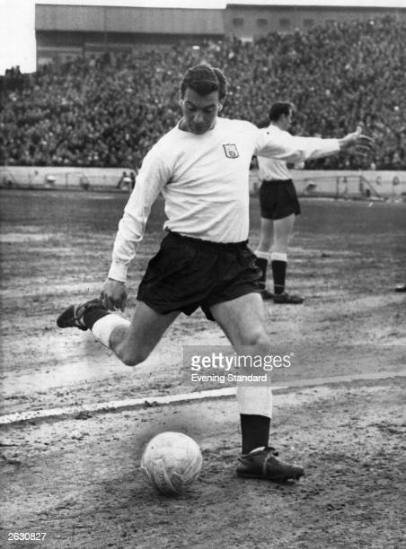 Fulham Football Club's experienced inside forward and former England captain John Haynes in action