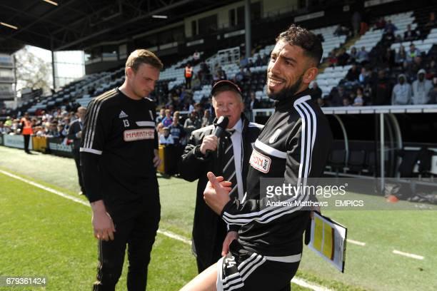Fulham goalkeeper David Stockdale and Ashkan Dejagah are interviewed by David Hamilton