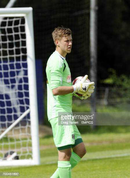 Fulham goalkeeper Jesse Joronen playing in the friendly against Fulham FC