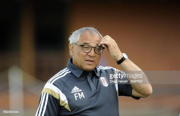 Fulham Manager Felix Magath at friendly against Rangers FC