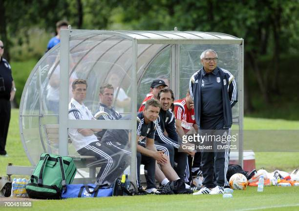 Fulham Manager Felix Magath on the touchline during the friendly against Rangers FC