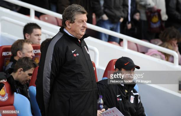 Fulham manager Roy Hodgson on the touchline prior to kick off