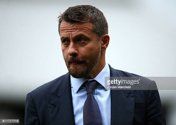 Fulham manager Slavisa Jokanovic looks on ahead of the Sky Bet Championship match between Fulham and Queens Park Rangers at Craven Cottage on October...