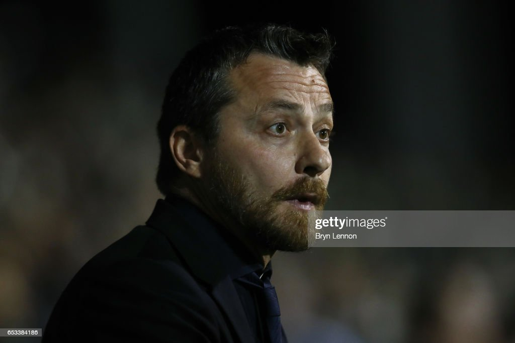 Fulham Manager Slavisa Jokanovic looks on prior to the Sky Bet Championship match between Fulham and Blackburn Rovers at Craven Cottage on March 14, 2017 in London, England.