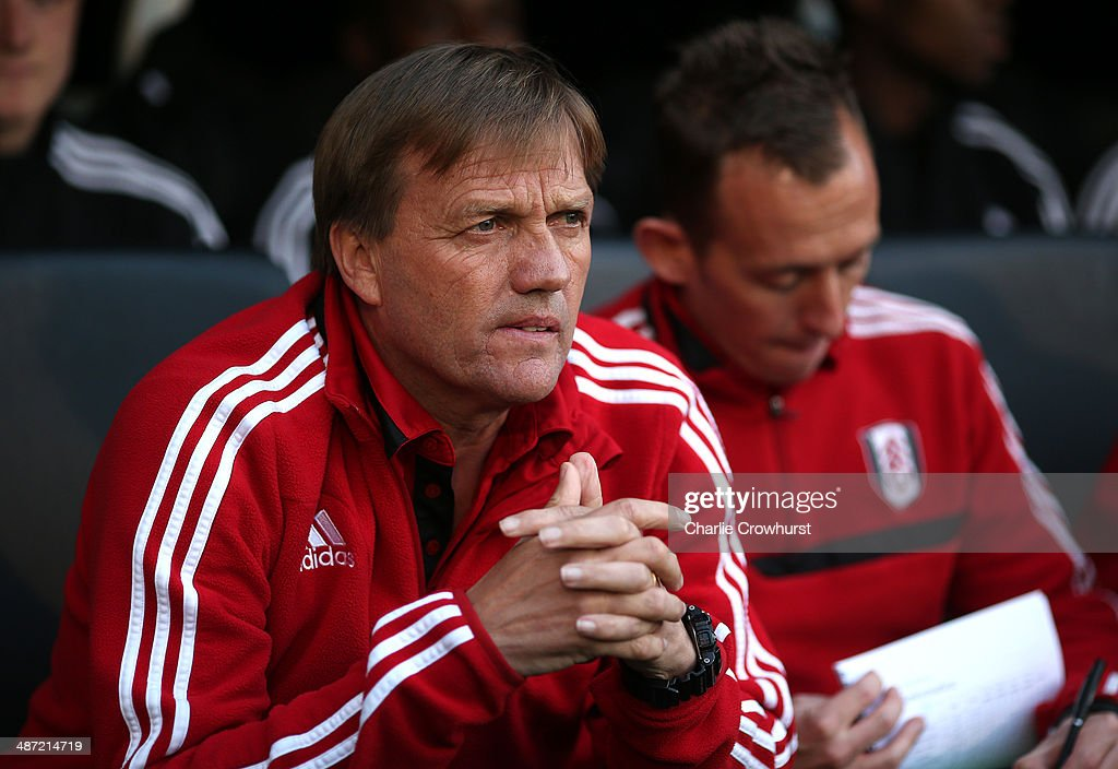 Fulham manager Steve Wiggley during the FA Youth Cup Final: First Leg match between Fulham and Chelsea at Craven Cottage on April 28, 2014 in London, England.