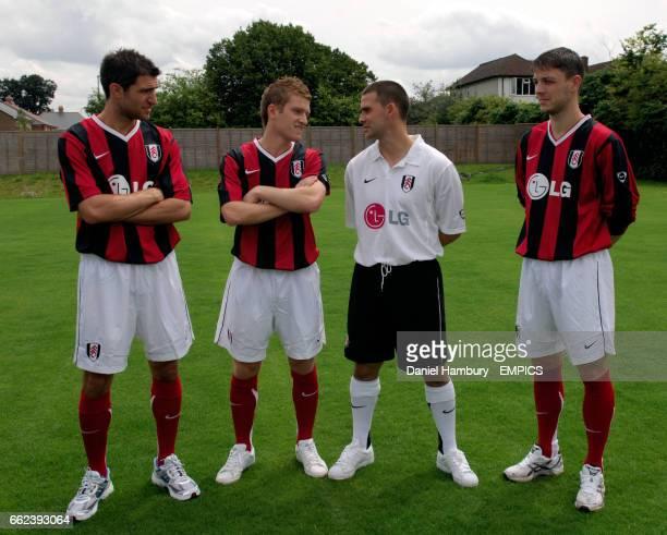 Fulham new quartet of Northern Ireland internationals LR Aaron Hughes Steven Davis David Healy and Chris Baird