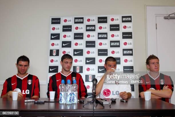 Fulham new quartet of Northern Ireland internationals LR Aaron Hughes Chris Baird David Healy and Steven Davis