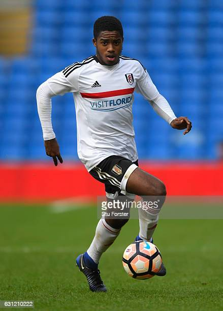 Fulham winger Ryan Sessegnon in action during the Emirates FA Cup Third Round match between Cardiff City and Fulham at Cardiff City Stadium on...