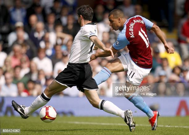 Fulham's Aaron Hughes and Aston Villa's Gabriel Agbonlahor