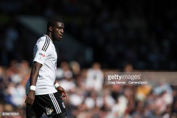 Fulham's Aboubakar Kamara during the Sky Bet Championship match between Fulham and Norwich City at Craven Cottage on August 5 2017 in London England