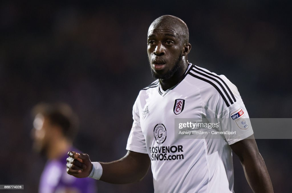 Fulham's Aboubakar Kamara during the Sky Bet Championship match between Fulham and Bristol City at Craven Cottage on October 31, 2017 in London, England.