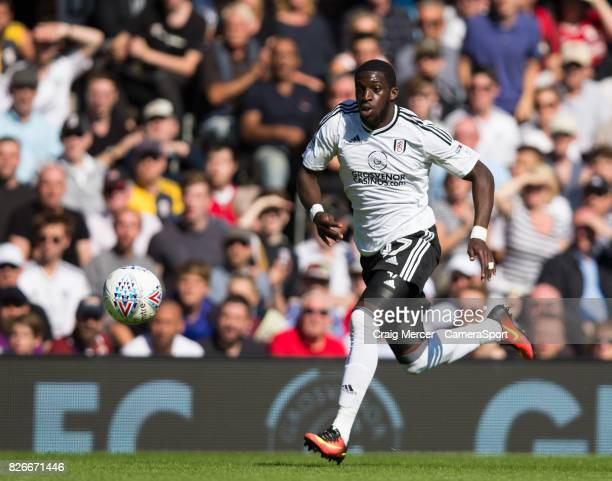 Fulham's Aboubakar Kamara in action during the Sky Bet Championship match between Fulham and Norwich City at Craven Cottage on August 5 2017 in...