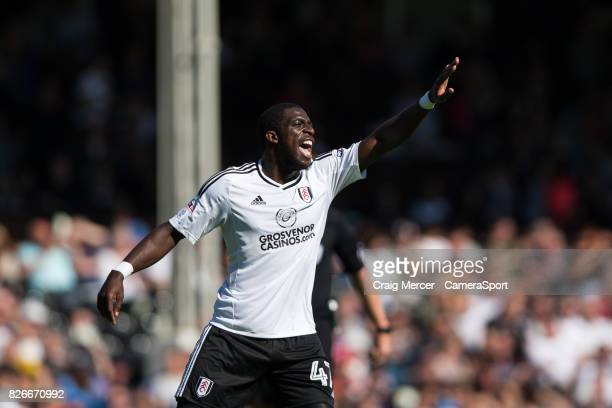 Fulham's Aboubakar Kamara reacts during the Sky Bet Championship match between Fulham and Norwich City at Craven Cottage on August 5 2017 in London...