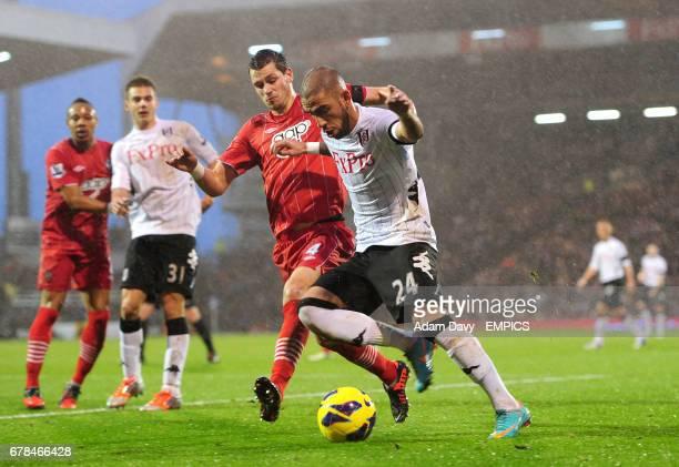 Fulham's Ashkan Dejagah and Southampton's Morgan Schneiderlin