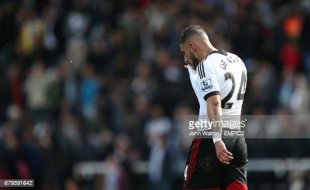 Fulham's Ashkan Dejagah dejected after the final whistle