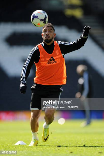Fulham's Ashkan Dejagah during an open training session at Craven Cottage