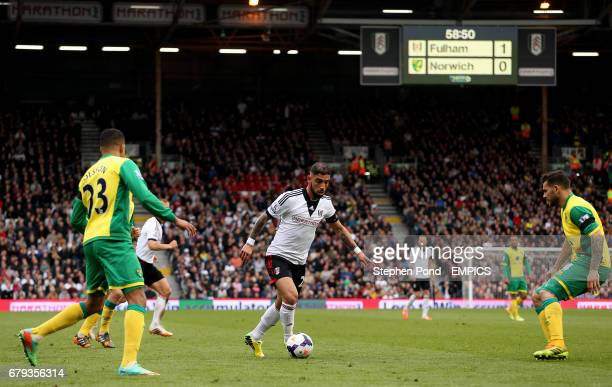 Fulham's Ashkan Dejagah in action during the match