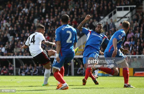 Fulham's Ashkan Dejagah scores his side's first goal of the game