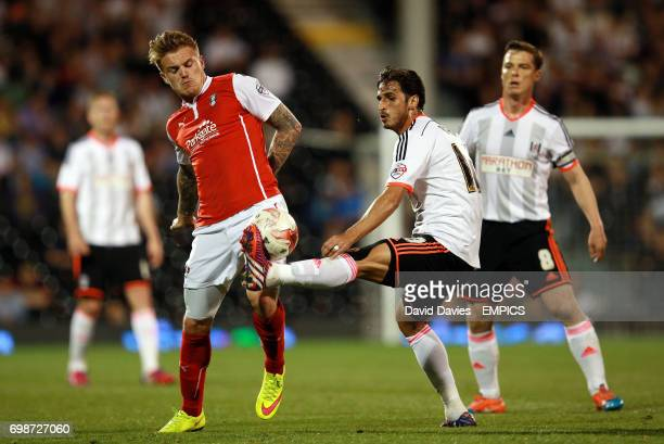 Fulham's Bryan Ruiz and Rotherham United's Danny Ward