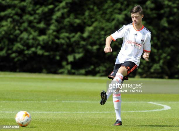 Fulham's Cameron Burgess playing in the friendly against Rangers FC