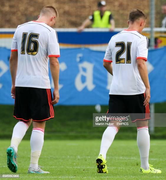 Fulham's Cauley Woodrow and Lasse Vigen Christensen