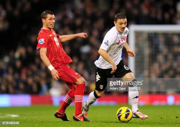 Fulham's Chris Baird and Southampton's Morgan Schneiderlin