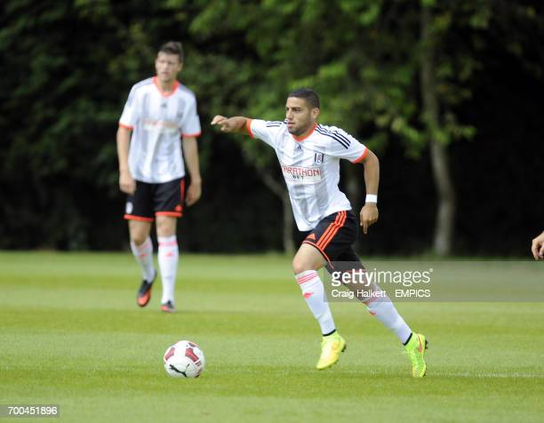 Fulham's Chris David playing in the friendly against Rangers FC
