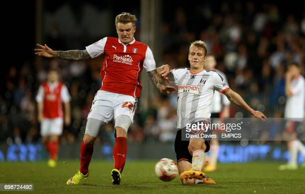 Fulham's Dan Burn and Rotherham United's Danny Ward