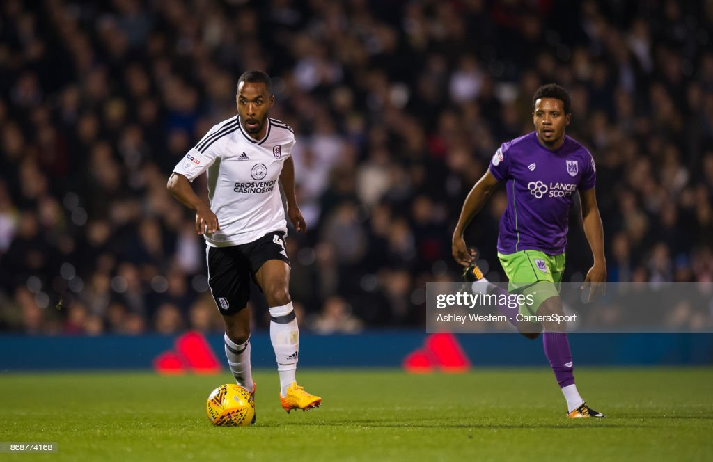 Fulham's Denis Odoi during the Sky Bet Championship match between Fulham and Bristol City at Craven Cottage on October 31, 2017 in London, England.