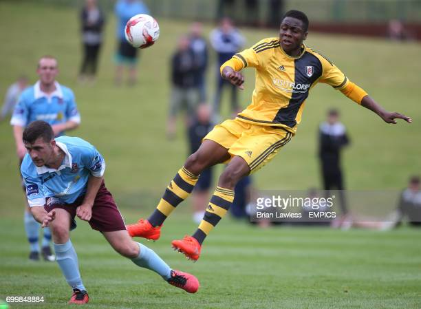 Fulham's Dennis Adeniran in action against Cobh Ramblers during their preseason friendly at Fota Island Cork Republic of Ireland