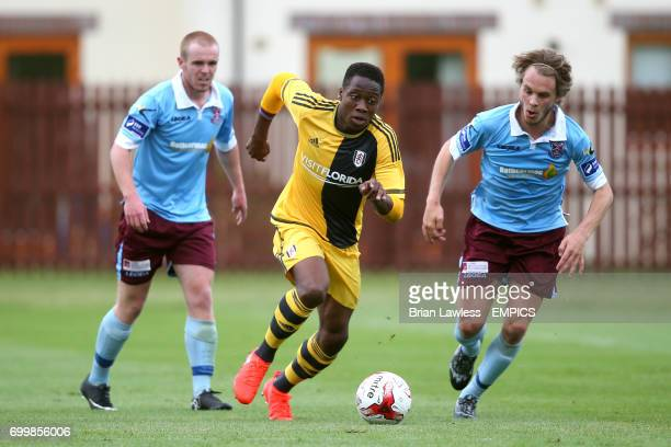 Fulham's Dennis Adeniran in action